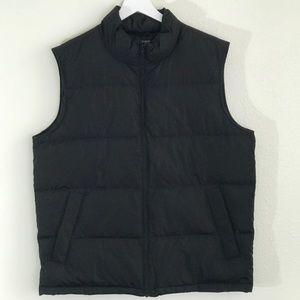 Lands End Men's Black Lightweight Down Vest